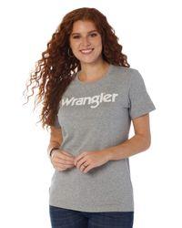 Wrangler Gray Short Sleeve Graphic T-shirts