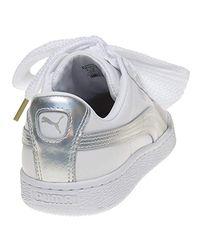 Suede Heart Safari, Basket Mode PUMA en coloris White
