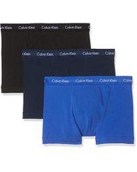 Bóxer (Pack de 3) para Hombre Calvin Klein de hombre de color Blue