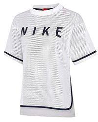 Nike T-shirt Mesh White 893673100