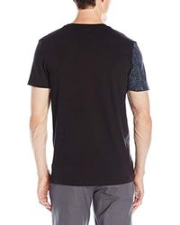 Calvin Klein Black Slim Fit All Over Printed Short Sleeve V-neck T-shirt for men