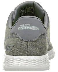 Skechers Gray Performance On The Go Glide Eaze Walking Shoe for men