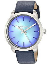 DIESEL 'flare Degrade' Quartz Stainless Steel And Leather Casual Watch, Color Blue (model: Dz5570)