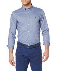 Slim Essential Dobby Shirt Camisa Tommy Hilfiger de hombre de color Blue