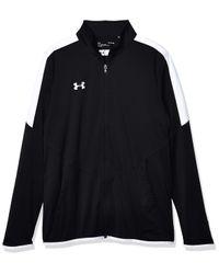 UA Rival Knit Jacket LG Black di Under Armour in Multicolor da Uomo