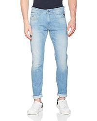 Anbass Jeans Slim Uomo di Replay in Blue da Uomo