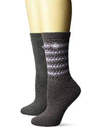 Columbia Black Wool Crew Sock