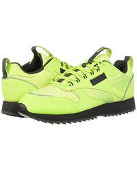 Reebok Yellow Classic Leather Ripple Trail Sneaker