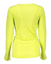 Liu Jo WXX021 JC698 T-Shirt Maniche Lunghe Donna di Liu Jo in Yellow