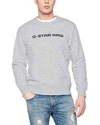 Loaq R Sw L/s, Sudadera Hombre, Gris (Grey Htr 906), X-Small G-Star RAW de hombre de color Gray