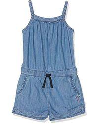 Shelly, Pantalones de Peto para Niñas, Azul (Lightweight Denim 000), 8 años (Talla del Fabricante: 8) Pepe Jeans de color Blue