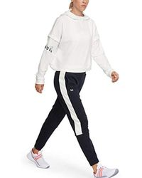 Rival Terry Training Hoodie Felpa di Under Armour in White