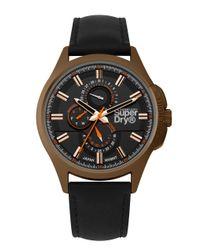 S Multi-Cadrans Quartz Montre avec Bracelet en Cuir SYG258BBRG Superdry pour homme en coloris Black