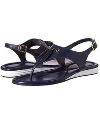 Cole Haan Blue Rona Grand Flat Sandal