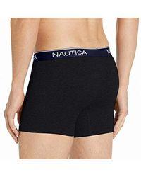 3-Pack Soft Stretch Boxer Brief di Nautica in Black da Uomo