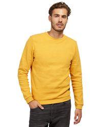 Tom Tailor Structure Fabric Sweatshirt in Yellow für Herren