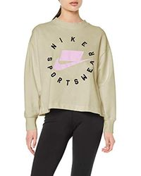 Nike Multicolor W NSW Crew FLC Ft Bf Long Sleeved T-Shirt
