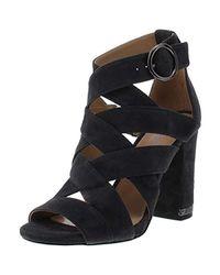 Michael Kors Black Michael s Valerie Suede Heel Sandals Gray 6 Medium (B,M)
