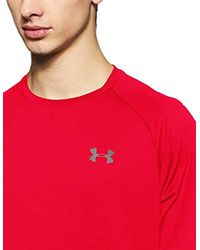 Maglietta Sportiva da Uomo Tech 2.0 di Under Armour in Red da Uomo