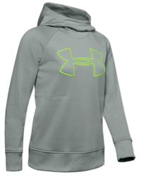 Under Armour Gray Cold Gear Big Logo Hoodie