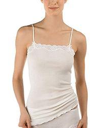 Unterhemden Richesse Lace, Canotta Donna, Beige (Cream White 892), 38 (Taglia Produttore: XS=36/38) di Calida in Natural