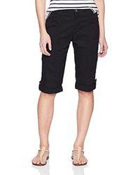 Lee Jeans Black Petite Relaxed Fit Skye Knit Waist Cargo Capri Pant