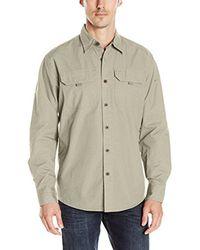 Wrangler Natural Down Shirt - Beige for men