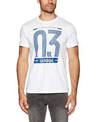 Number 03 M T-Shirt Adidas pour homme en coloris White