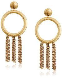 Lucky Brand Metallic S O Tassel Earrings