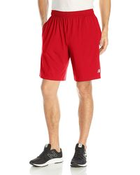 New Balance Red Tech Shorts for men