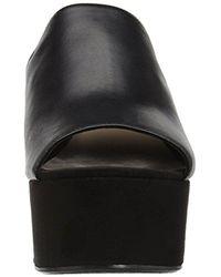 Nine West Black Kelsawn Leather Platform