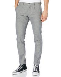 Bleecker Brushed Herringbone Pantalon Tommy Hilfiger pour homme en coloris Gray