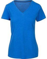 Tommy Hilfiger Blue S V-neck Solid Color Logo T-shirt
