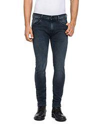 Jondrill Jeans Skinny Uomo, Grigio (Grey Denim 9) W33/L34 di Replay in Blue da Uomo