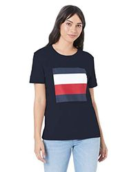 Tommy Hilfiger Blue Cathy C-nk Tee Ss T-shirt