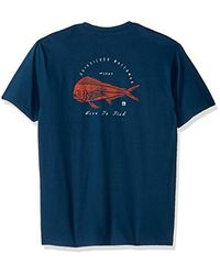 Quiksilver - Blue Live To Fish Mt0 Tee for Men - Lyst