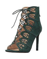 Nine West Green Leslie Suede Dress Sandal