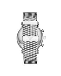 Emporio Armani Metallic 'hybrid' Quartz Stainless Steel Smart Watch, Color:silver-toned (model: Art9003) for men