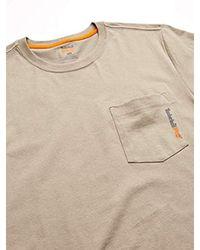 PRO Uomo TB0A1HNS Base Plate Blended Maglietta a Maniche Corte Maniche Corte T-Shirt di Timberland in Natural da Uomo