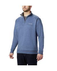 Columbia Blue Hart Mountain Ii Half Zip Jacket for men