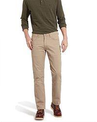 Wrangler Natural Arizona Stretch Navy Trousers for men