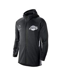 Nike Los Angeles Lakers Therma Flex Showtime S Nba Hoodie Size L (black Heather) for men