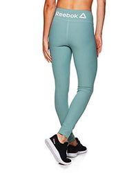 Reebok Green Legging Full Length Performance Compression Pants