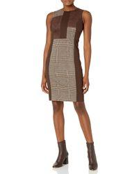 Calvin Klein Multicolor Mixed Media Sheath Dress