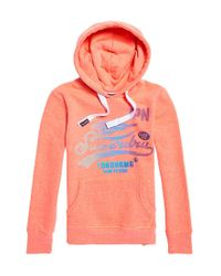 Superdry Pink High Flyers Fade Dot Entry Hoo Jumper