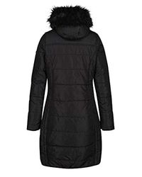 Regatta Black Fermina Ii Quilted Water Repellent Insulated Hooded Jacket