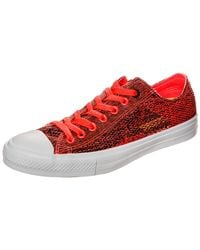 Converse Red Erwachsene Chuck Taylor All Star II OX Sneaker