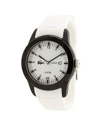 Lacoste Multicolor 2010674 42mm Stainless Steel Case White Rubber Mineral Watch for men