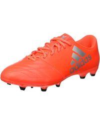X 16.3 FG Leather, Chaussures de Football Entrainement Homme Adidas pour homme en coloris Orange