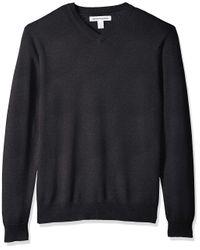 V-Neck Pullover Sweater di Amazon Essentials in Gray da Uomo